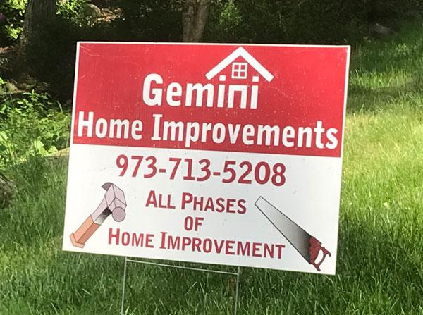 Gemini Home Improvement Sign